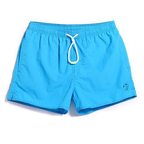 GAILANG Men Beach Shorts Quick Dry Board Surfing Swim Trunks Boardshorts Solid