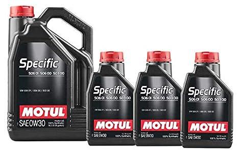MOTUL Aceite Lubricante VW 503.00-506.00 560.01 0W30, Pack 8 litros: Amazon.es: Coche y moto
