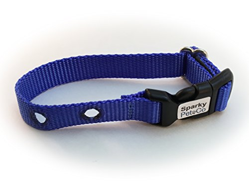 Sparky PetCo 3/4″ Petsafe Sport Dog Garmin Dogtra Compatible Blue Nylon Invisibl Review
