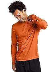 Hanes Men's Long Sleeve Cool DRI T-Shirt UPF 50-Plus