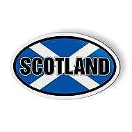 """Scotland Flag Oval Scottish Saltire - Magnet for Car Fridge Locker - 3"""""""