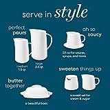 Corelle Coordinates Sugar and Creamer Set, White