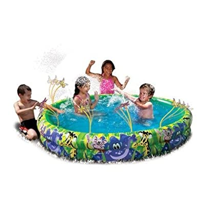 Banzai Spray N Splash Jungle Fun Pool: Toys & Games