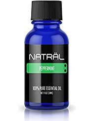 NATRÄL Peppermint, 100% Pure and Natural Essential Oil, Large 1 Ounce Bottle