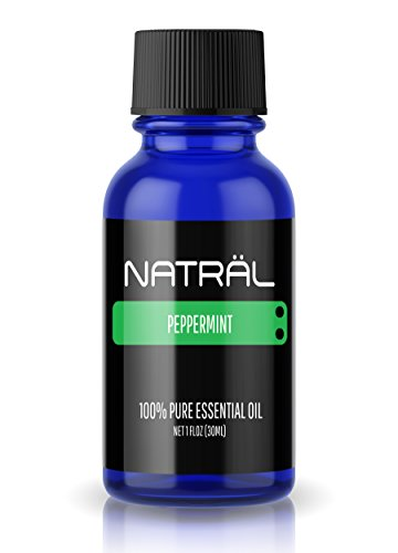 NATRAL 1oz (30ml) Peppermint Essential Oil, 100% Pure and Natural, Large 1 Ounce Bottle