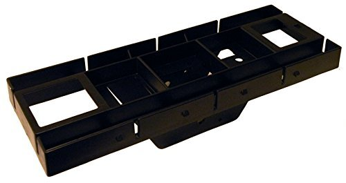 Gibraltar Patriot Rust-Proof Plastic Black Mailbox Mounting Board, GMB225B by Gibraltar by Gibraltar