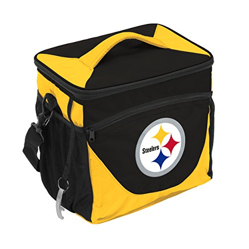 Logo Brands NFL Pittsburgh Steelers 24 Can Cooler, One Size, Black by Logo Brands