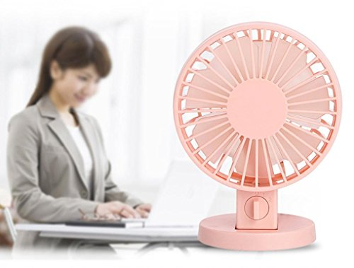 Gillberry Usb Fan Mini Cooler Portable Pc Cooler Air Desk Conditioner Laptop Desktop For Phone (Pink)