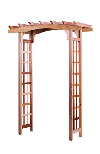 Arboria Astoria Garden Arbor Cedar Wood Over 7ft High Pergola Design With Lattice Panels