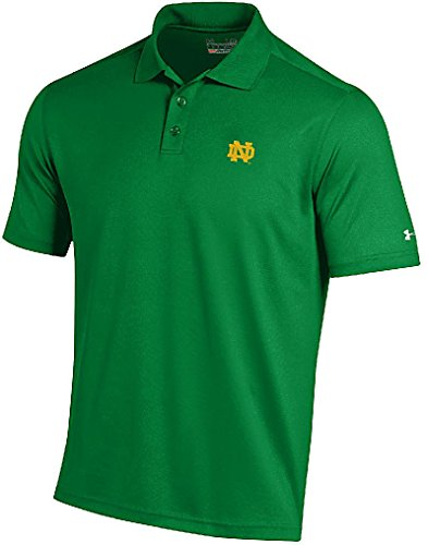 Notre Dame Fighting Irish Mens Kelly Green Performance Polo Shirt by Under Armour (X-Large) (Irish Polo Shirt)