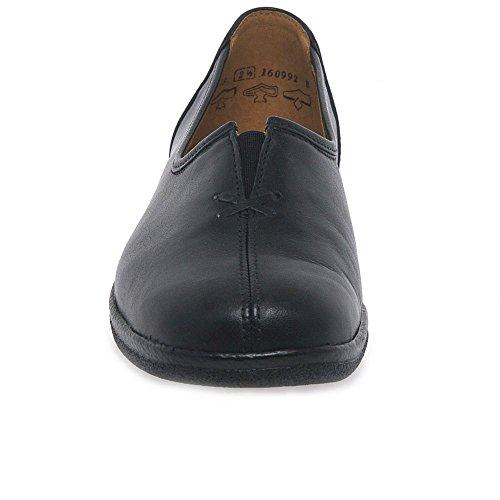 cuero Leather para Black de mujer Bailarinas Gabor ZEq41wAx