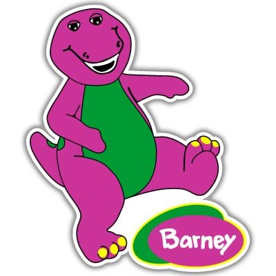 Barney the Dinosaur children decor Vynil Car Sticker Decal - Select Size