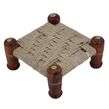 SHOPUS | Bridge2ShoppingTM Wooden Charpai | Jute Khat