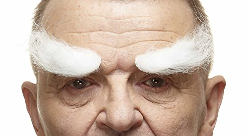 White Eyebrows Costume - Realistic white fake eyebrows, self adhesive