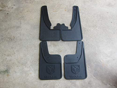 Mopar Dodge RAM Front & Rear Rubber Splash Guards for Trucks W/Fender Flares