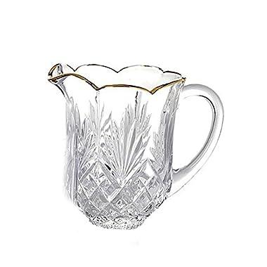 Godinger Silver Art Dublin Gold-banded Leaded Water Beverage Drink Pitcher