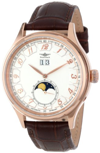 Big Date Automatic Watch - Breytenbach Men's BB44153WW-RG Automatic Moonphase Big Date Small Second Watch