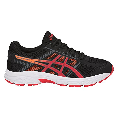 ASICS New Pre Contend 4 PS Black/Fiery Red/Shocking Orange 11 Kids Shoes
