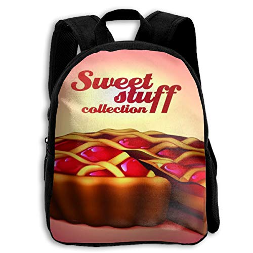 Backpack Kids Sturdy Cute Schoolbags Back to School Backpack for Boys Girls Children - Classic Cherry Pie