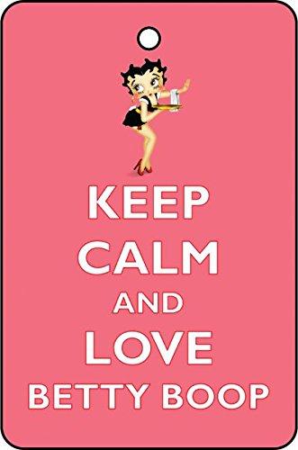 Keep Calm and Love Betty Boop Car Air Freshener (Xmas Christmas Stocking Filler/Secret Santa Gift) AAF