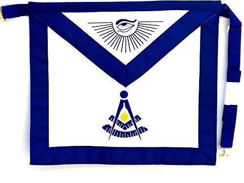 D4500 Apron Masonic Past Master with Square Imitation leather by DEAN & ASSOCIATES