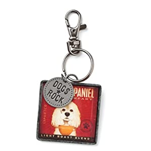 DEMDACO Dogs Rock Keychain, Cocker Spaniel 1
