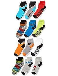 Amazon Brand - Spotted Zebra Boys Quarter-Crew Socks