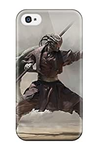 Flexible Tpu Back Case Cover For Iphone 4/4s - Warrior