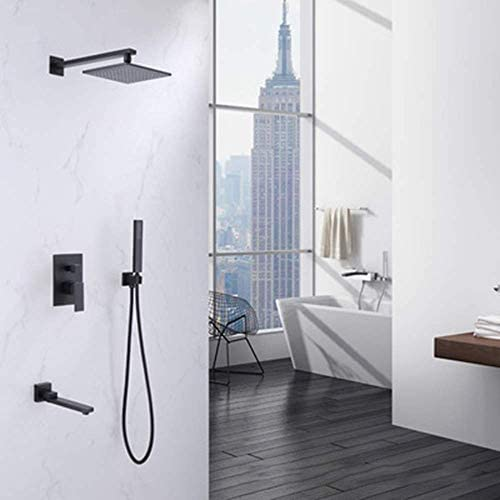 BZM-ZM 耐久性のある黒の3すべての銅電気めっき廃液隠さシャワー蛇口バスルームスイートホテルプロジェクト