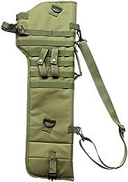 Tactical Rifle Long Carry Backpack Shotgun Scabbard Military MOLLE Ambidextrous Padded Gun Case Long Gun Prote