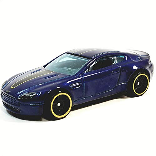 Hot Wheels Exoctics Blue Aston Martin V8 Vantag.e 1/64 Scale Diecast Car