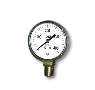 US Forge 08032 Victor Style High Pressure Gauge for Acetylene Regulators 0-400 P.S.I.