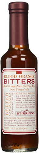 Stirrings Blood Orange Cocktail Bitters, 12 Ounce Bottle 1 Made without alcohol to create a more versatile, blendable taste. Blood oranges mixed with exotic spices to create a mellow sweetness. Perfect for cocktails or non-alcoholic drinks.