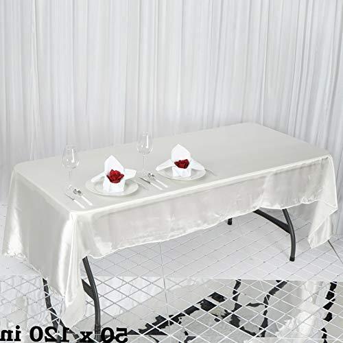 Mikash Rectangular Satin Tablecloth Dinner Wedding Party Linens Decorations Wholesale | Model WDDNGDCRTN - 9124 | 72x120