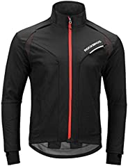ROCKBROS Winter Cycling Jacket Warm Men's Windproof Thermal Coat Softshell Black