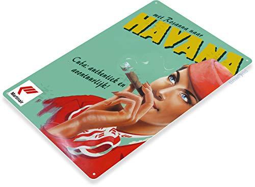 Tinworld TIN Sign Martinair Cuban Cigar Havana Tobacco Metal Decor Wall Art ()