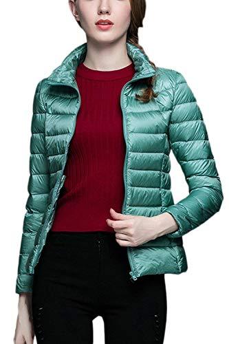 Lunga Autunno Giacca Donne Invernali Hot Colori Corto Di Piumini Eleganti Solidi Collo Packable Piumino Azzurro Coreana Facile Donna Transizione Slim Fit Classiche Cappotto Moda Manica x0O0wqFUg