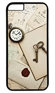 Antique Keys and Table DIY Hard Shell Black iphone 6 plus Case Perfect By Custom Service