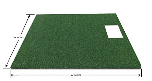 PREMIUM PRO TURF 3' x 5' Full Stance Golf Mat For The OptiShot Golf Simulator- 5mm Foam Backing by PREMIUM PRO TURF