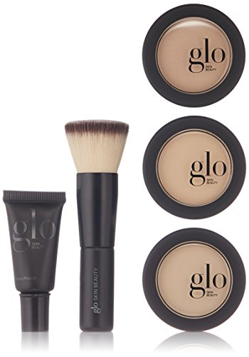 Glo Skin Beauty Meet Your Match Mineral Makeup 3-Step Foundation Kit, Natural, 2.9 g. by Glo Skin Beauty