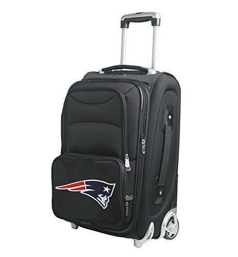 Denco NFL New England Patriots In-Line Skate Wheel Carry-On Luggage, 21-Inch, Black from Denco