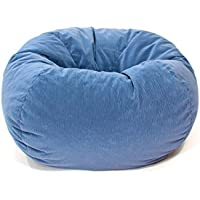 Gold Medal Bean Bags Small / Toddler Micro-Fiber Suede Corduroy Bean Bag, Sky