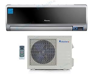 24,000 Btu Klimaire 17 SEER DC Inverter Ductless Mini Split Heat Pump Air Conditioner - 220 Volt - 16 Ft Installation Kit