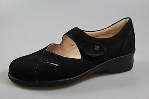 Aquila Nubuck nero 3594 Finn Womens Comfort Shoes znqnagU