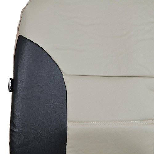motor trend black beige two tone pu leather car seat covers classic accent premium. Black Bedroom Furniture Sets. Home Design Ideas
