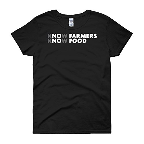 Great American Gifts Love Farming Womens Short Sleeve T Shirt
