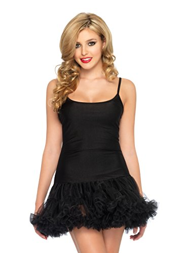 Petticoat Dress (Leg Avenue Women's Petticoat Dress, Black, Medium/Large)