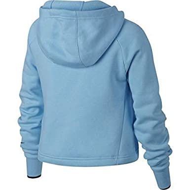 Nike g nsw hoodie crop pe gx felpa amazon blu felpe con cappuccio