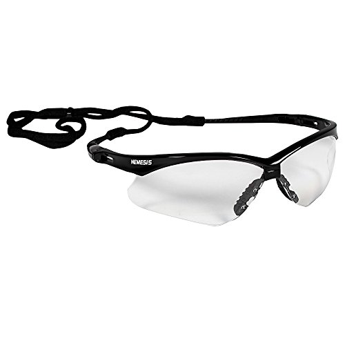 Jackson Safety Nemesis Safety Glasses 25679, Clear Anti-Fog Lens with Black Frame, 12 Pairs/Case Anti Fog Lens Safety Glasses