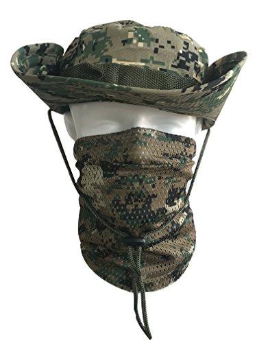 QMFIVE Écharpe tactique camouflage, hommes et femmes unisexe multi-usages bandeau militaire style tête wrap face mesh… 4